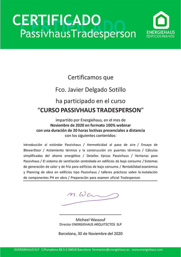 Certificado Passivhaus Pinalba